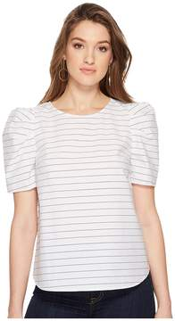 1 STATE 1.STATE Short Sleeve Puff Sleeve Top Women's Clothing