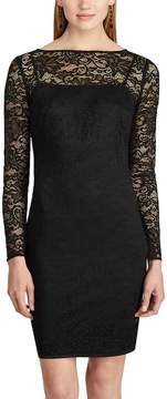 Chaps Women's Lace Long-Sleeve Dress