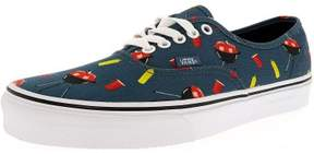 Vans Authentic Pool Vibes Blue Ashes/True White Ankle-High Canvas Skateboarding Shoe - 12M / 10.5M