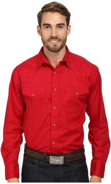 Roper L/S Solid Basic Snap Front Men's Long Sleeve Button Up