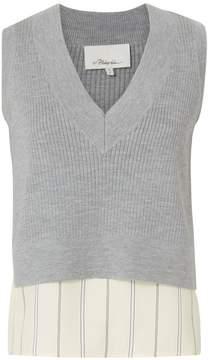 3.1 Phillip Lim Layered Sweater Top