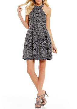 B. Darlin Glitter Pattern Fit-And-Flare Dress