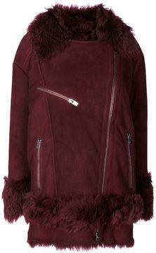 Drome furry trim coat