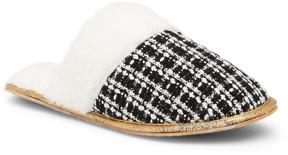 Isaac Mizrahi Doris Faux Fur Lined Patterned Slipper