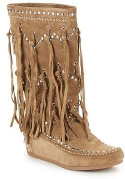 Ash Shilo Fringed Suede Boots