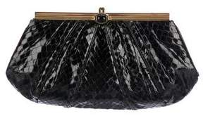 Judith Leiber Python Evening Clutch