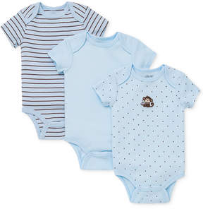 Little Me Baby Boys' 3-Pack Monkey Bodysuits