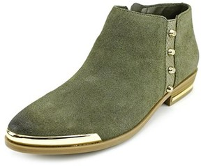Fergie Indigo Pointed Toe Leather Ankle Boot.