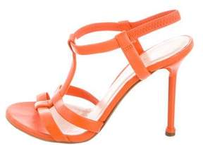 Versace Leather T-Strap Sandals