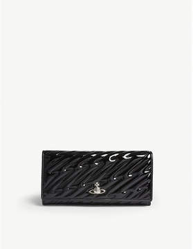 Vivienne Westwood Coventry patent leather long wallet