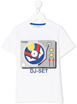 Fendi Kids dj set print T-shirt