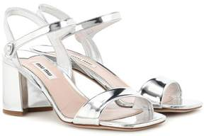 Miu Miu Metallic leather sandals