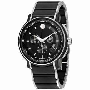Movado Strato Chronograph Black Dial Men's Watch 0607006