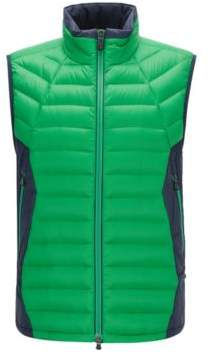 BOSS Hugo Colorblocked Nylon Down Vest Vestone M Green
