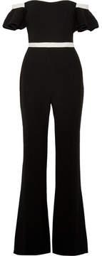 Rachel Zoe Dove Off-the-shoulder Crepe Jumpsuit - Black