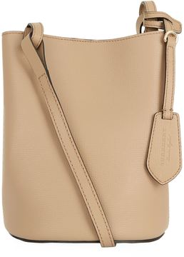 Burberry Small Lorne Leather Bucket Bag - BEIGE - STYLE