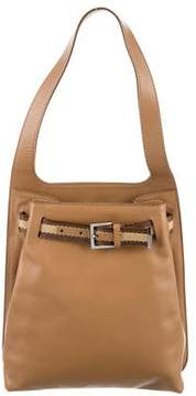 Gucci GG Web Leather Shoulder Bag - NEUTRALS - STYLE