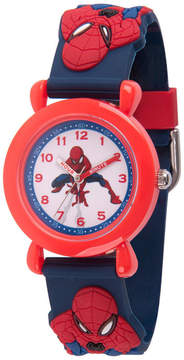 Marvel Spiderman Boys Blue Strap Watch-Wma000165