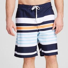 Merona Men's Big & Tall Stripe Swim Trunks Navy