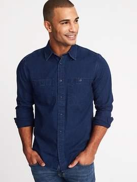 Old Navy Regular-Fit Double-Pocket Denim Shirt for Men