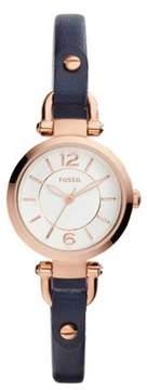 Fossil Georgia Mini White Dial Ladies Casual Watch ES4026