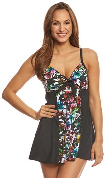 Fit 4 U Fit4U Havana Vintage Tie Front Swim Dress 8155876