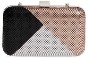 Whiting & Davis Color Block Mesh Box Clutch