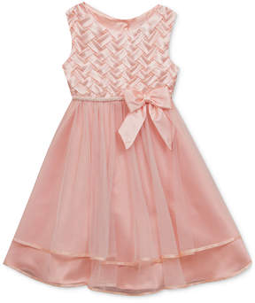 Rare Editions Basket Weave Dress, Baby Girls