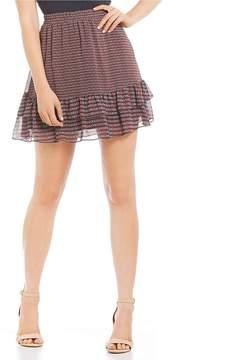 Copper Key Ditsy Print Ruffle Hem Skirt