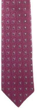 Charvet Silk Geometric Print Tie