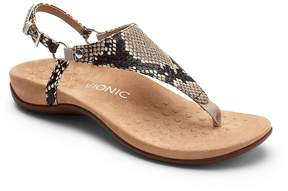 Vionic Walk.Move.Live Kirra Snake Print Thong Sandals