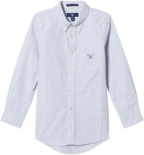 Gant Pale Blue Banker Stripe Shirt