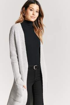 Forever 21 Open-Front Longline Cardigan