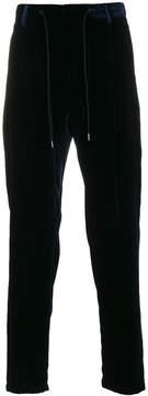 Emporio Armani velvet drawstring trousers