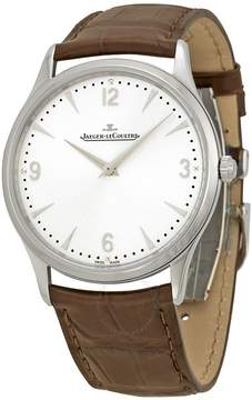 Jaeger-LeCoultre Jaeger Lecoultre Jaeger Le Coultre Master Ultra Thin Silver Dial Brown Leather Men's Watch