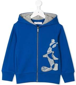 John Galliano three-dimensional logo zip hoodie