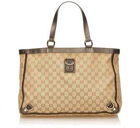 Gucci Pre-owned: Gg Abbey-d Ring Tote Bag. - BROWN - STYLE