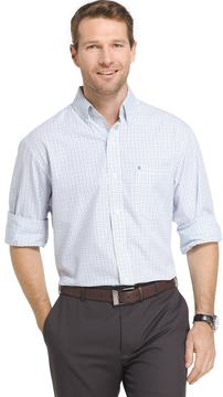 Izod Men's Essential Regular-Fit Tattersall Checked Button-Down Shirt