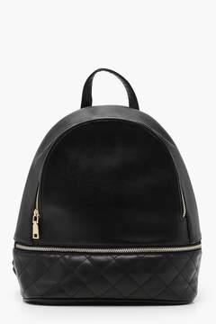 boohoo Quilt Base Zippered Backpack