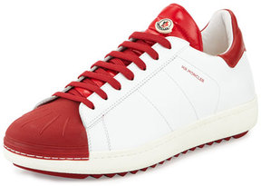 Moncler Mr. Bicolor Low-Top Sneaker, White/Red