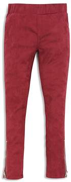 7 For All Mankind Girls' Faux-Suede Leggings with Zipper Details - Big Kid