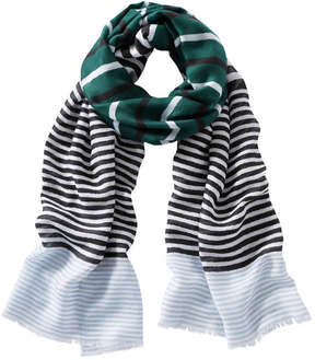 Joe Fresh Women's Multi-Stripe Scarf, Dark Green (Size O/S)