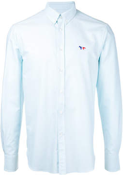 MAISON KITSUNÉ embroidered fox button-down shirt