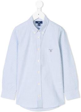 Gant Kids checked button-down shirt