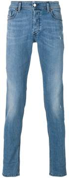 Diesel faded straight leg jeans