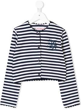 Miss Blumarine striped cardigan