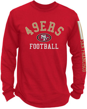 Authentic Nfl Apparel Men's San Francisco 49ers Spread Formation Long Sleeve T-Shirt