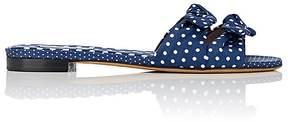 Tabitha Simmons Women's Cleo Polka Twill Slide Sandals