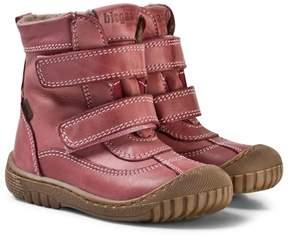 Bisgaard Rose Pink Velcro Boots