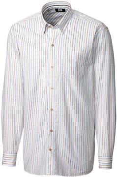 Cutter & Buck White & Tan Stripe Lantern Shirt - Men